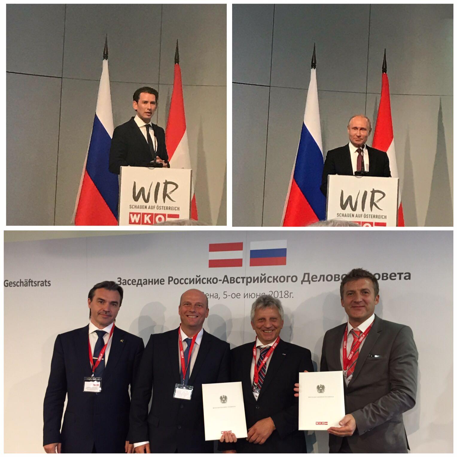 Während des knapp achtstündigen Aufenthaltes von Vladimir Putin in Wien hat der russische Präsident auch die RTi empfangen.