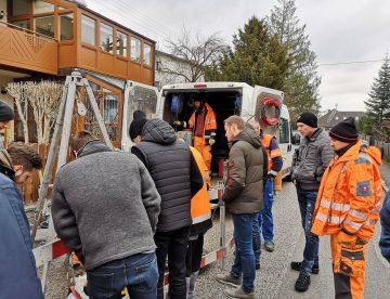 Schachtsanierungsvorführung in Hartkirchen